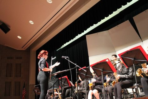 Jazz band rocks stage