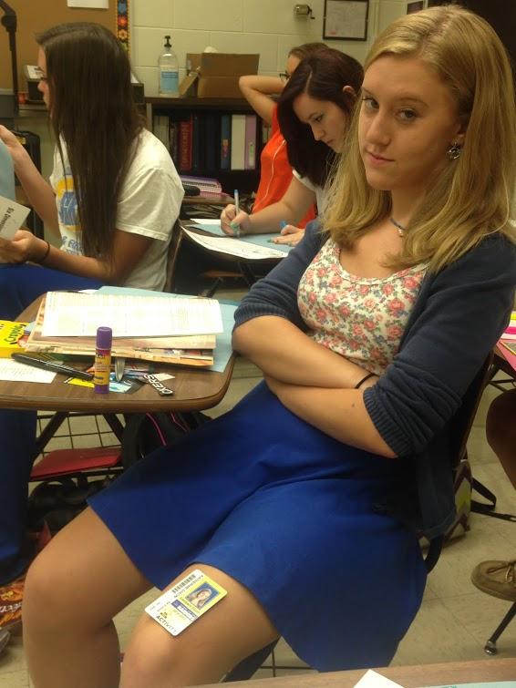 Senior Kate Dixon violates the dress code.