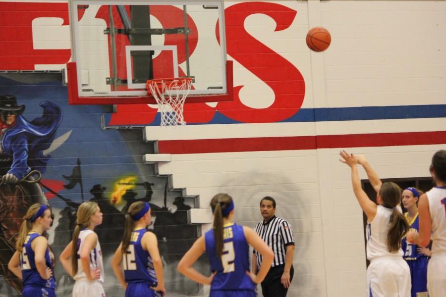 Junior guard Peyton Carli  shoots a free-throw