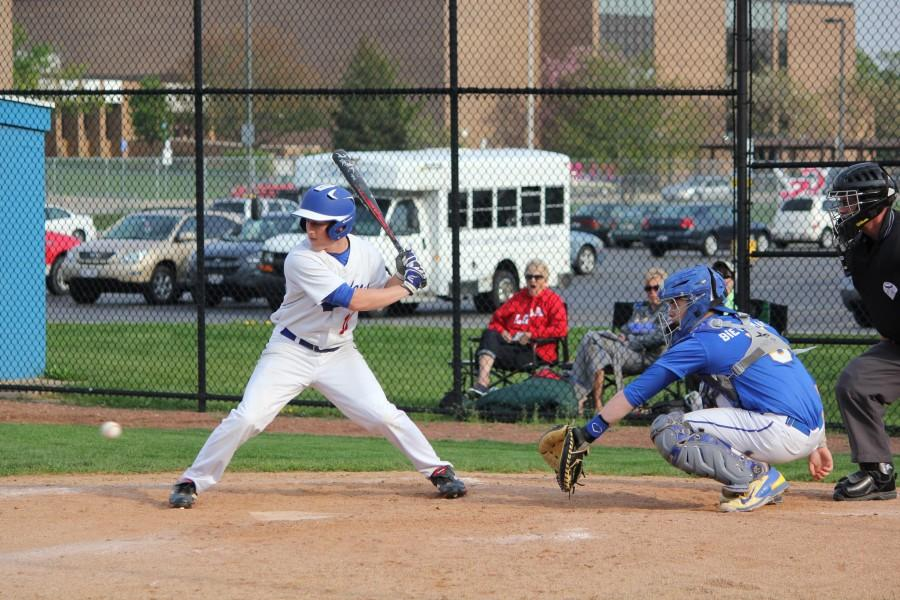 Joey Atkinson keeps a good eye for the low ball