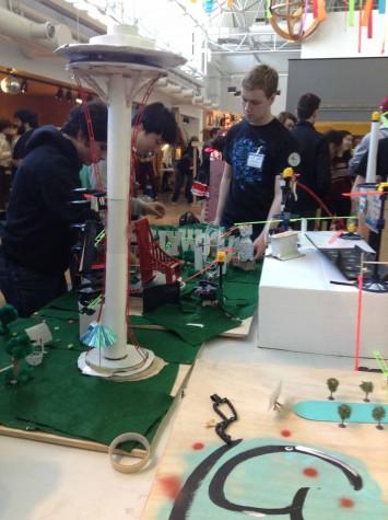 Rube Goldberg competes at Navy Pier