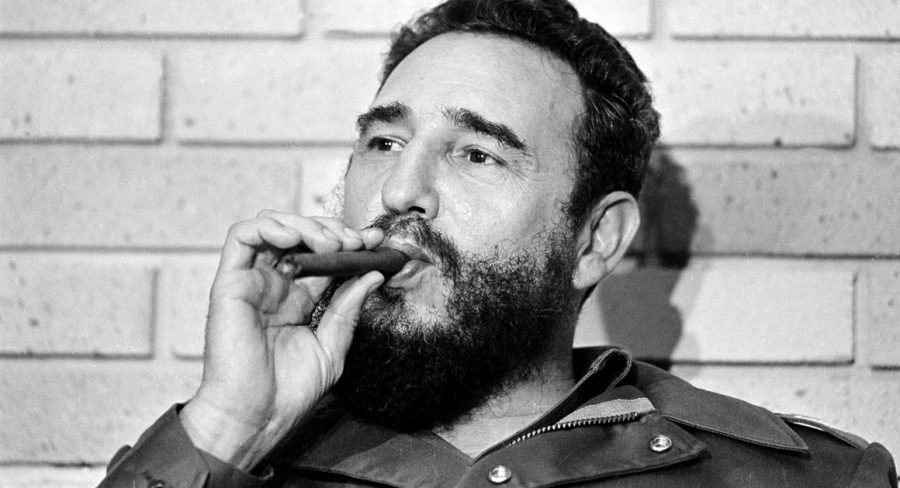 Fidel+Castro%2C+Prime+Minister+of+Cuba%2C+smokes+a+cigar+during+his+meeting+with+two+U.S.+senators%2C+the+first+to+visit+Castro%27s+Cuba%2C+in+Havana%2C+Cuba%2C+Sept.+29%2C+1974.++%28AP+Photo%29