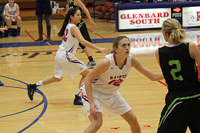 Maggie Bair gets ready to play defense