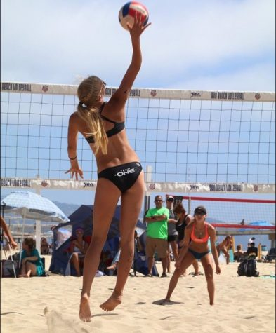Bauman represents the Midwest playing division one beach volleyball