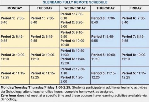 Glenbard District 87 Fully Remote Schedule